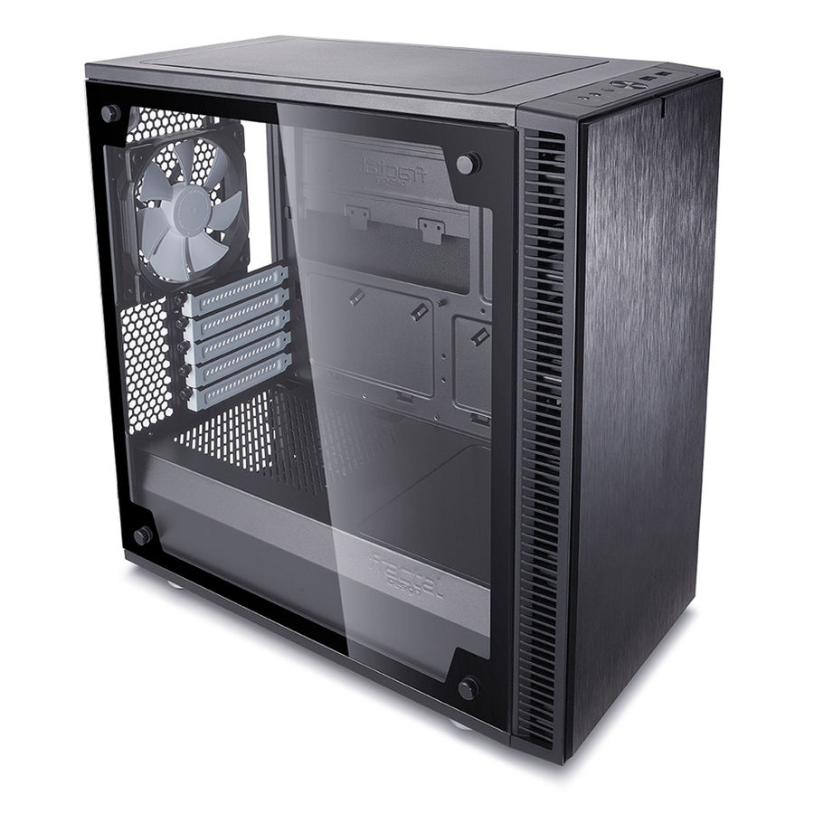 Корпус mATX FRACTAL DESIGN Define Mini C TG, Mini-Tower, без БП, черный корпус matx fractal design define mini c tg mini tower без бп черный