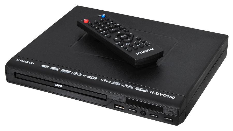 DVD-плеер HYUNDAI H-DVD160,  черный