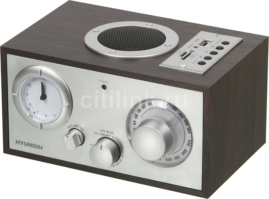 Радиоприемник HYUNDAI H-SRS220,  вишня