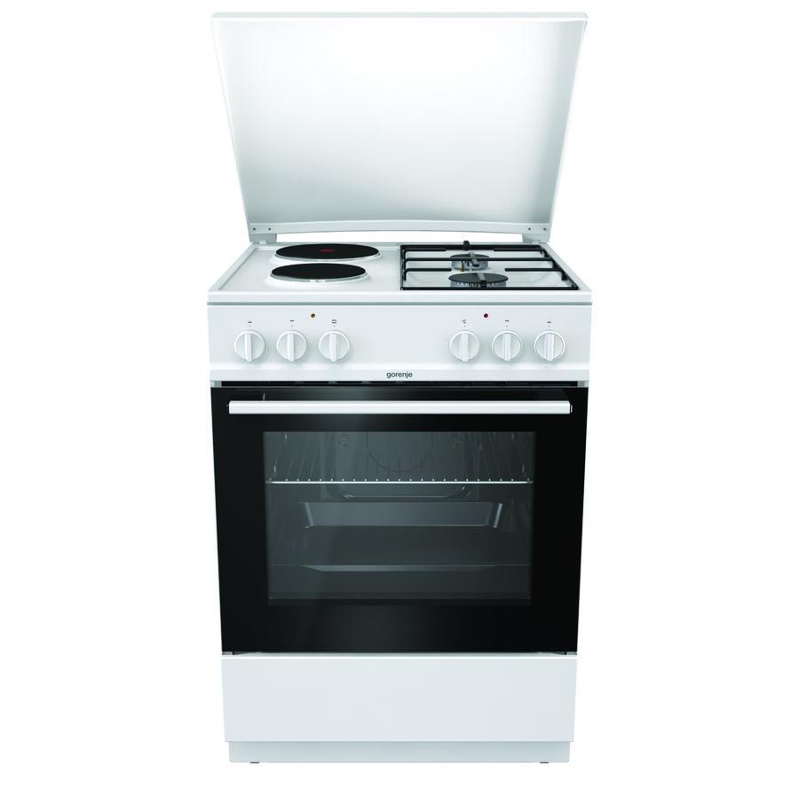 Газовая плита GORENJE K6121WG,  электрическая духовка,  белый