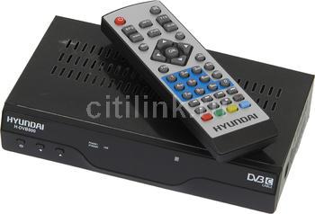Ресивер DVB-C HYUNDAI H-DVB820, черный