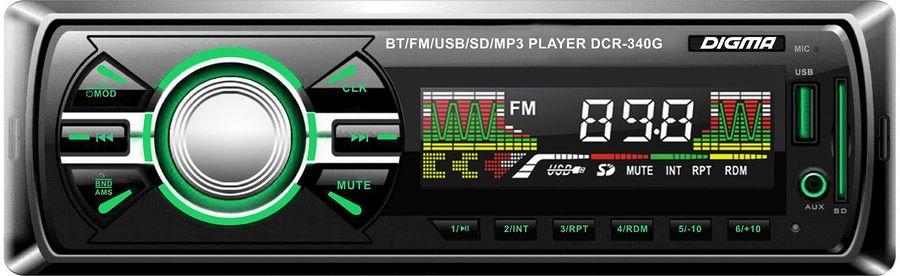 Автомагнитола DIGMA DCR-340G,  USB,  SD/MMC