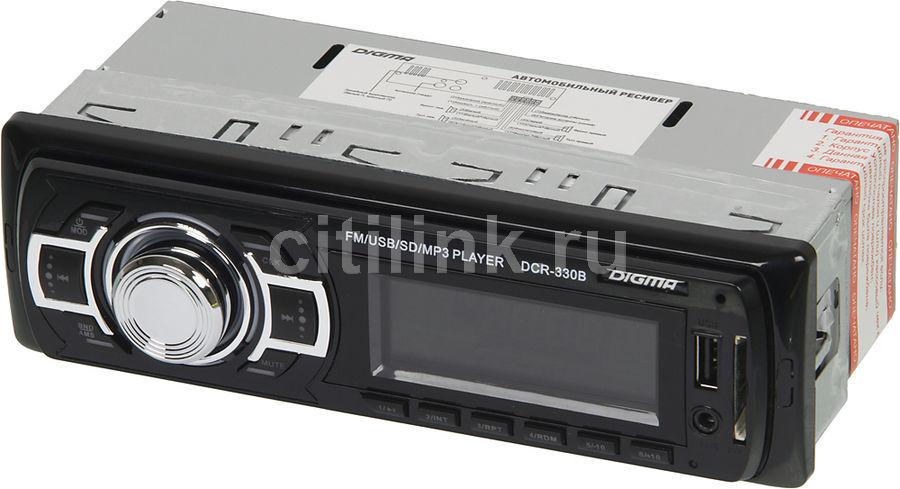 Автомагнитола DIGMA DCR-330B,  USB,  SD/MMC