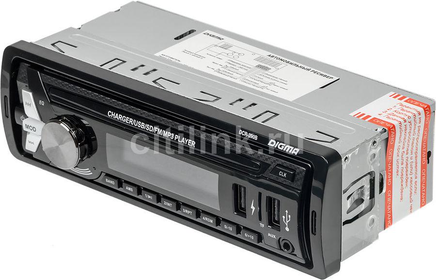 Автомагнитола DIGMA DCR-390B,  USB,  SD/MMC