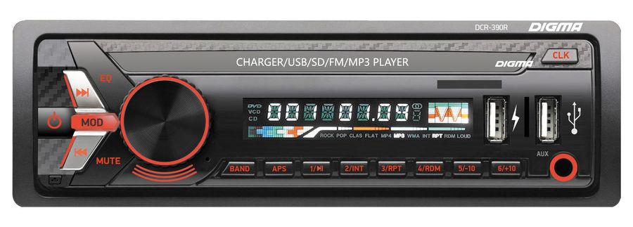 Автомагнитола DIGMA DCR-390R,  USB,  SD/MMC
