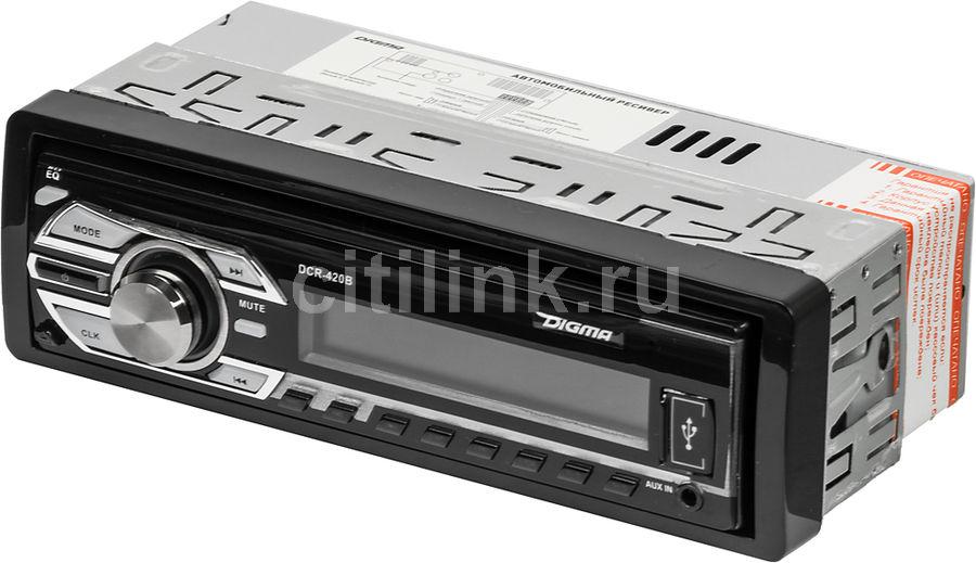 Автомагнитола DIGMA DCR-420B,  USB,  SD/MMC