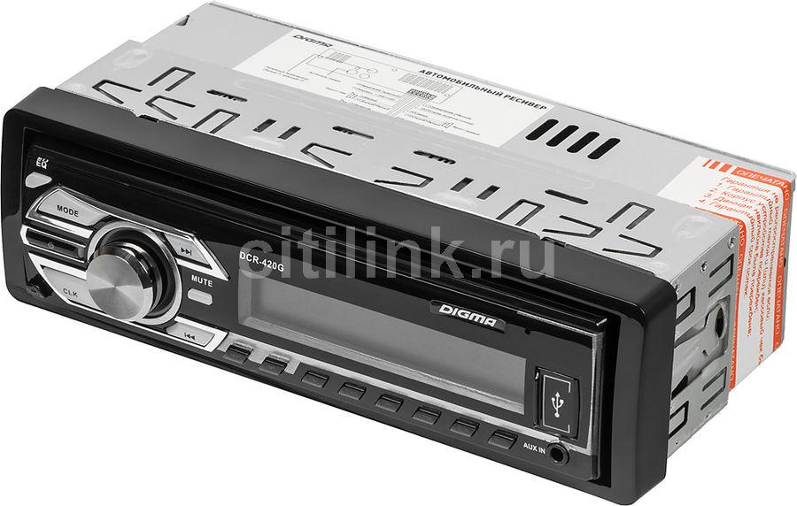 Автомагнитола DIGMA DCR-420G,  USB,  SD/MMC