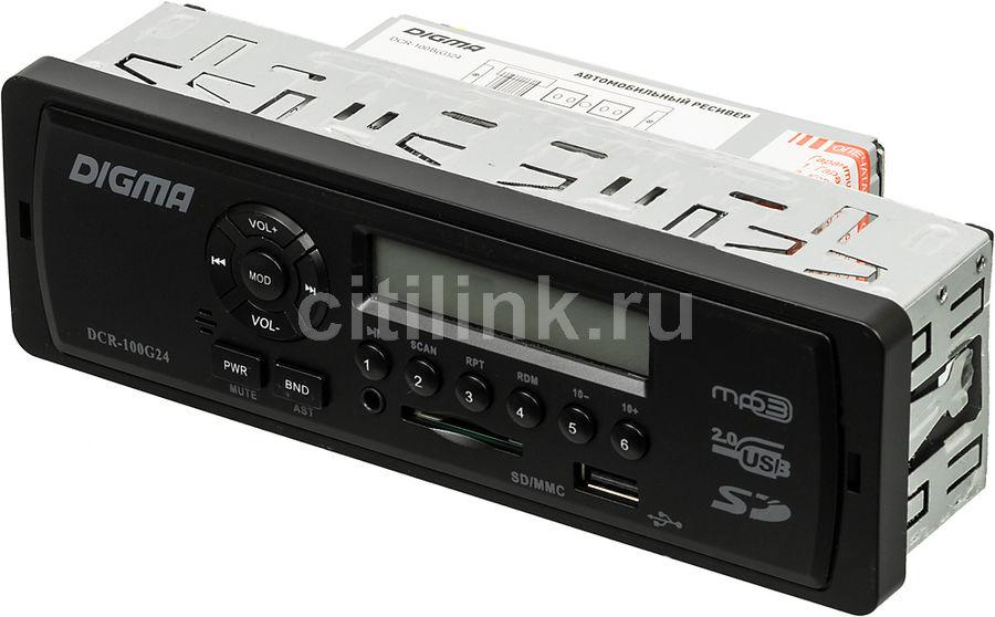 Автомагнитола DIGMA DCR-100G24,  USB,  SD/MMC