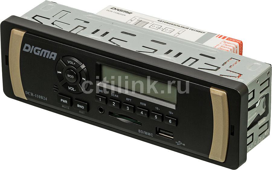 Автомагнитола DIGMA DCR-110B24,  USB,  SD/MMC