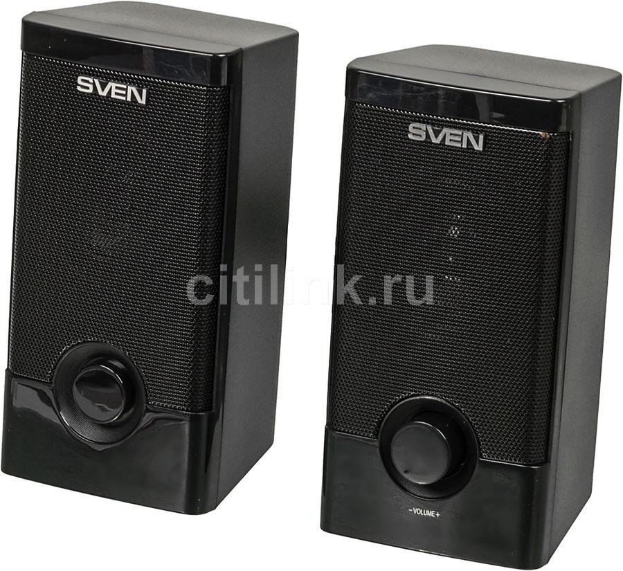 Колонки SVEN 318,  2.0,  черный