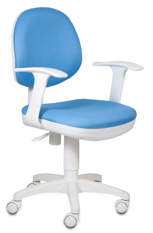Кресло детское БЮРОКРАТ CH-W356AXSN, на колесиках, ткань, синий [ch-w356axsn/blue]