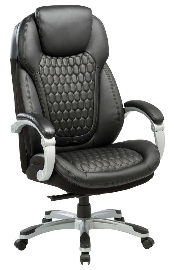 Кресло руководителя БЮРОКРАТ T-9917, на колесиках, рециклированная кожа/кожзам, черный [t-9917/black]