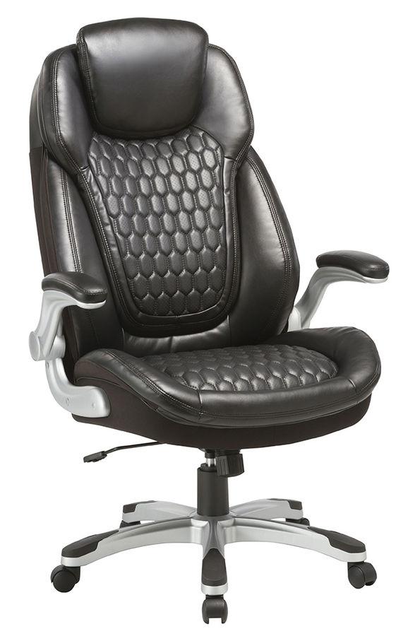 Кресло руководителя БЮРОКРАТ T-9917A, на колесиках, рециклированная кожа/кожзам, черный [t-9917a/black]