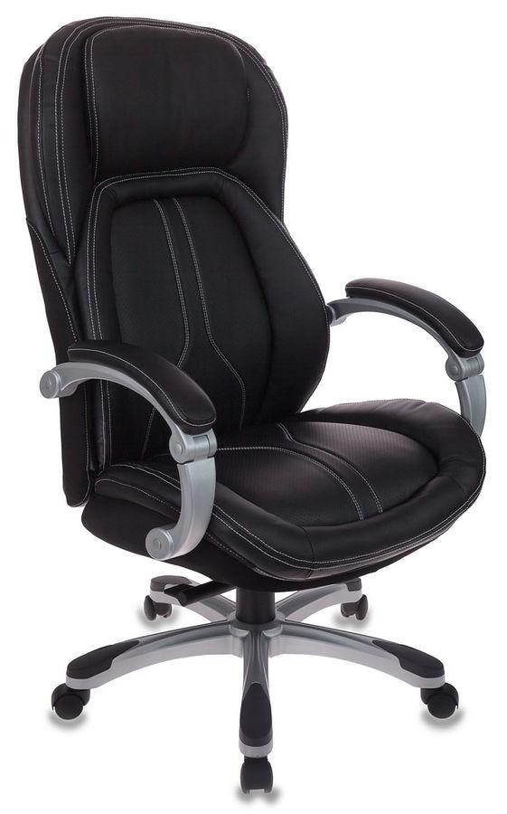 Кресло руководителя БЮРОКРАТ T-9919, на колесиках, рециклированная кожа/кожзам [t-9919/black]
