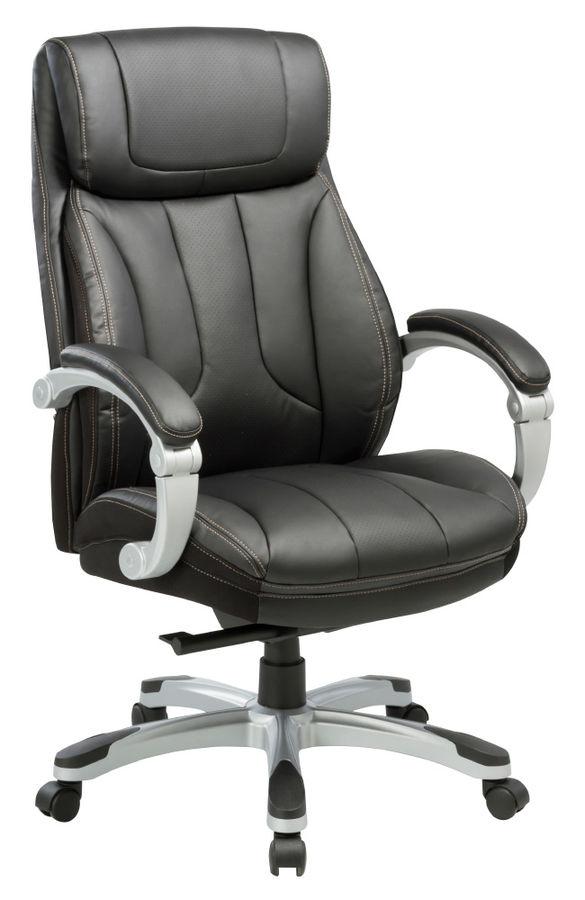 Кресло руководителя БЮРОКРАТ T-9921, на колесиках, рециклированная кожа/кожзам [t-9921/black]