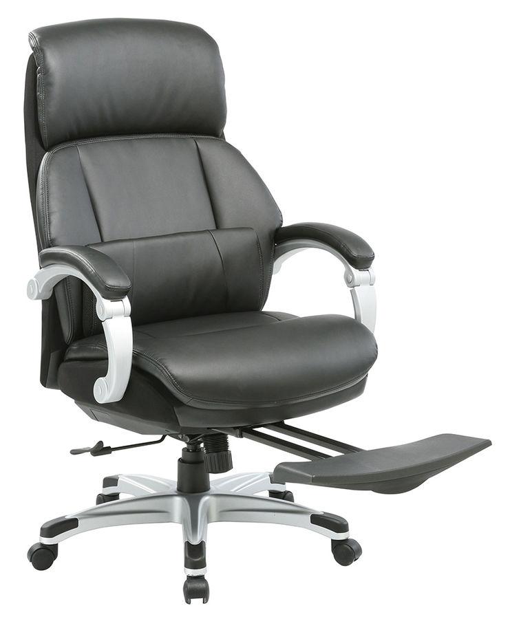 Кресло руководителя БЮРОКРАТ _Miro, на колесиках, кожа/кожзам [_miro/black]