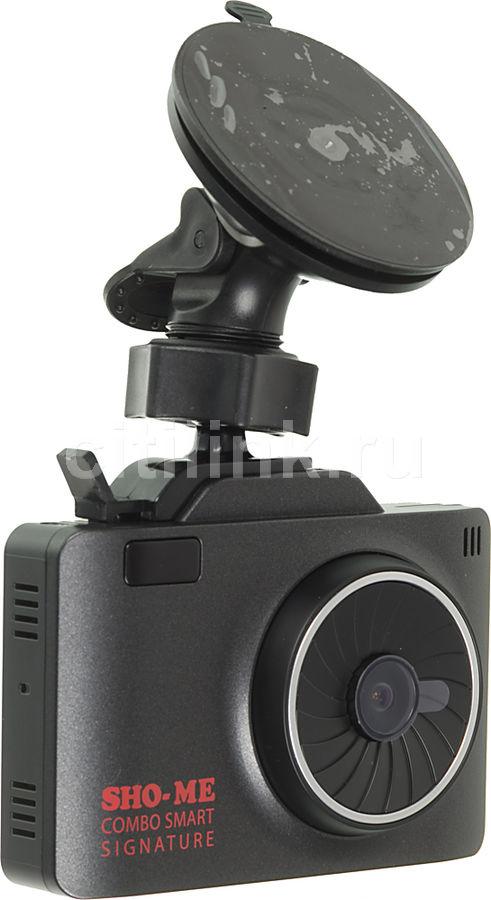 Видеорегистратор с радар-детектором Sho-Me COMBO SMART SIGNATURE GPS ГЛОНАС черный