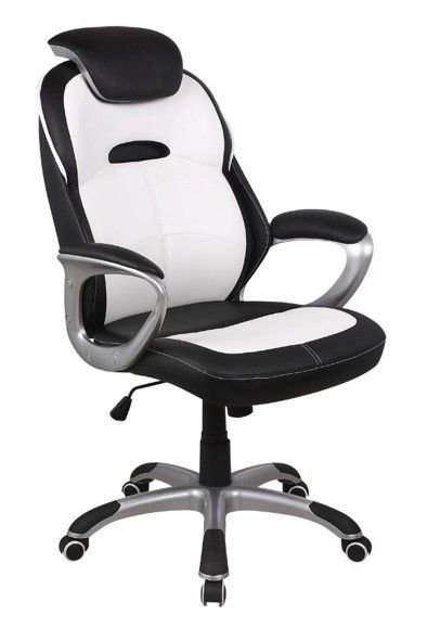 Кресло БЮРОКРАТ CH-S830, искусственная кожа [ch-s830/wh+bl]
