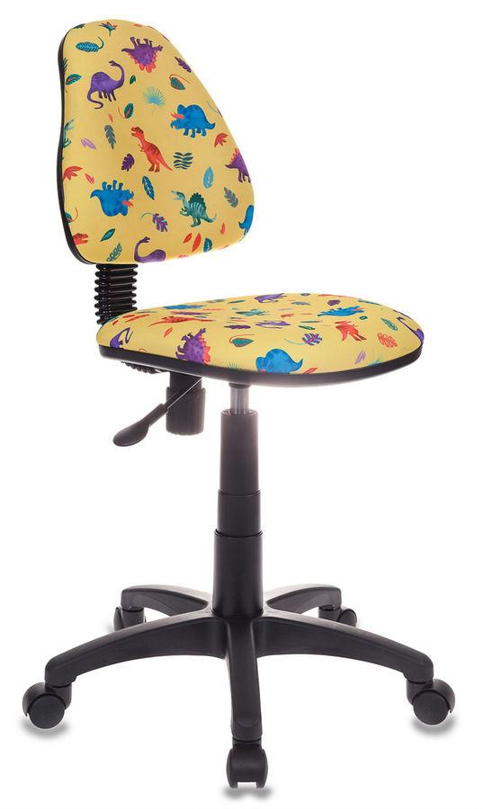 Кресло детское БЮРОКРАТ KD-4, на колесиках, ткань, желтый [kd-4/dino-y]
