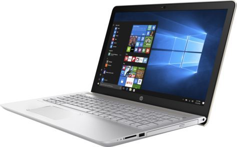 Ноутбук HP Pavilion 15-cc005ur, 15.6, Intel Core i3 7100U 2.4ГГц, 6Гб, 1000Гб, Intel HD Graphics 620, DVD-RW, Windows 10, золотистый [1za89ea]