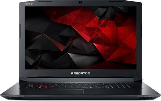 Ноутбук ACER Predator Helios 300 PH317-51-59GZ, 17.3, Intel Core i5 7300HQ 2.5ГГц, 16Гб, 1000Гб, 128Гб SSD, nVidia GeForce GTX 1050 Ti - 4096 Мб, Linux, NH.Q2MER.006, черный ноутбук acer predator g9 793 72qz 17 3 intel core i7 7700hq 2 8ггц 32гб 2тб 512гб ssd nvidia geforce gtx 1070 8192 мб dvd rw windows 10 home черный [nh q1uer 005]