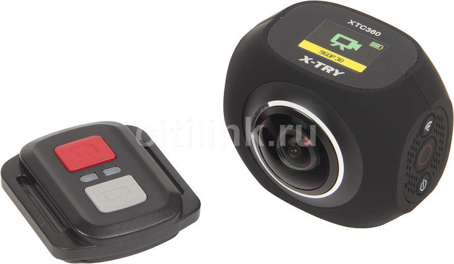 Экшн-камера X-TRY XTC360 4K,  WiFi,  черный