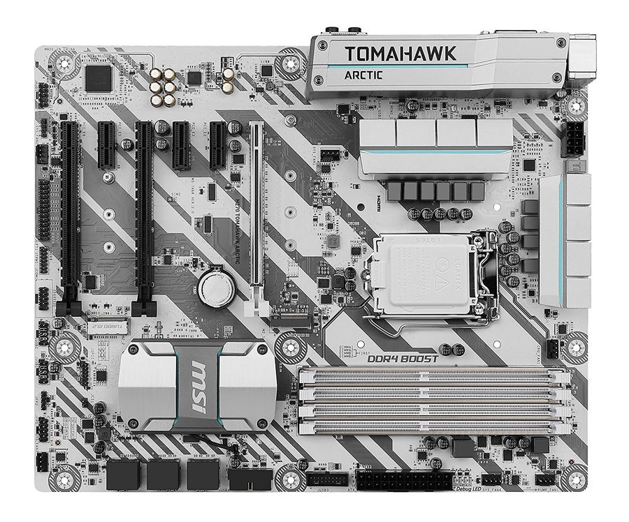 Материнская плата MSI H270 TOMAHAWK ARCTIC, LGA 1151, Intel H270, ATX, Ret