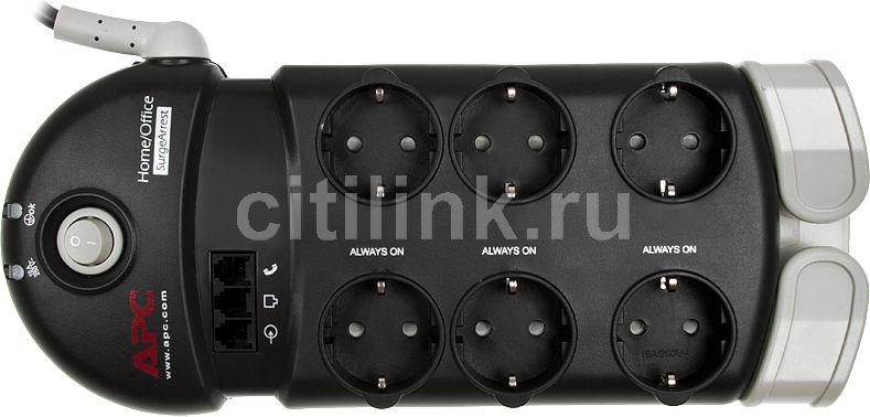 Сетевой фильтр APC PH6T3-RS, 2.4м, серый