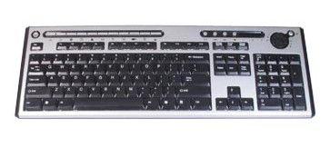 Клавиатура CHICONY KU-0420,  USB, серебристый + черный [ku-0420(usb) black/silver]