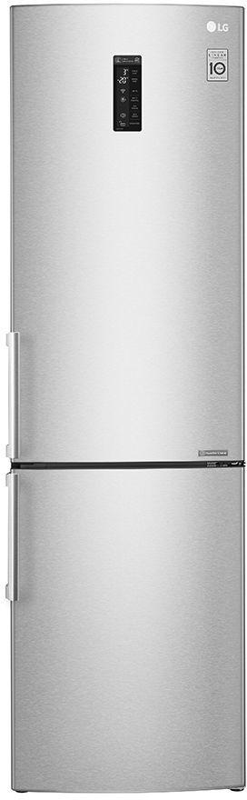 Холодильник LG GA-B499YAQZ,  двухкамерный, светло-серый