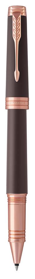 Ручка роллер Parker Premier T560 (1931407) Soft Brown PGT F черные чернила подар.кор.