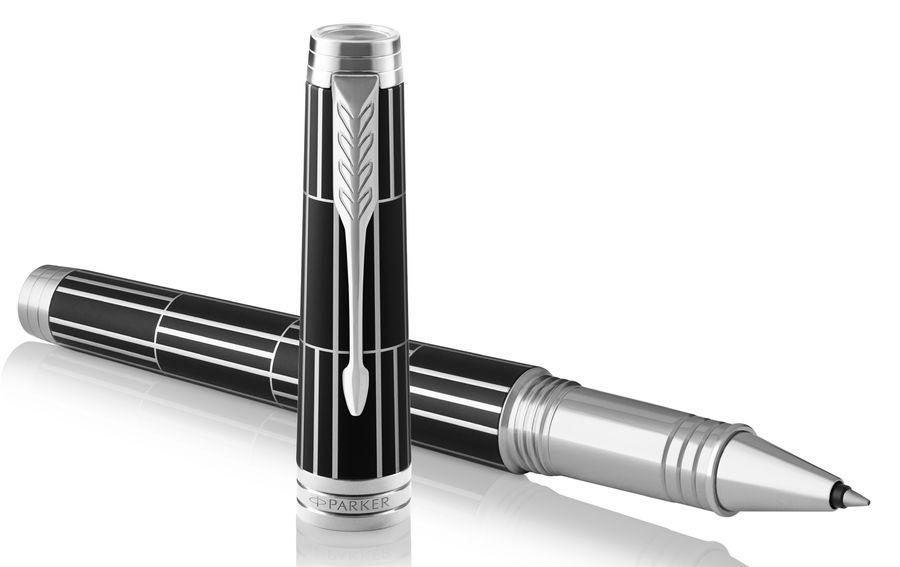 Ручка роллер Parker Premier T565 Luxury (1931403) Black CT F черные чернила подар.кор.