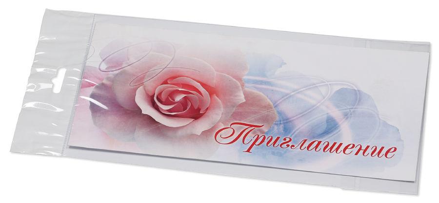 Конверт Приглашение 4011408 C65 114x229мм силиконовая лента 120г/м2 (pack:1pcs)