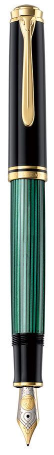 Ручка перьевая Pelikan Souveraen M 800 (PL995712) черный/зеленый M золото 18K с родиевым покрытием п