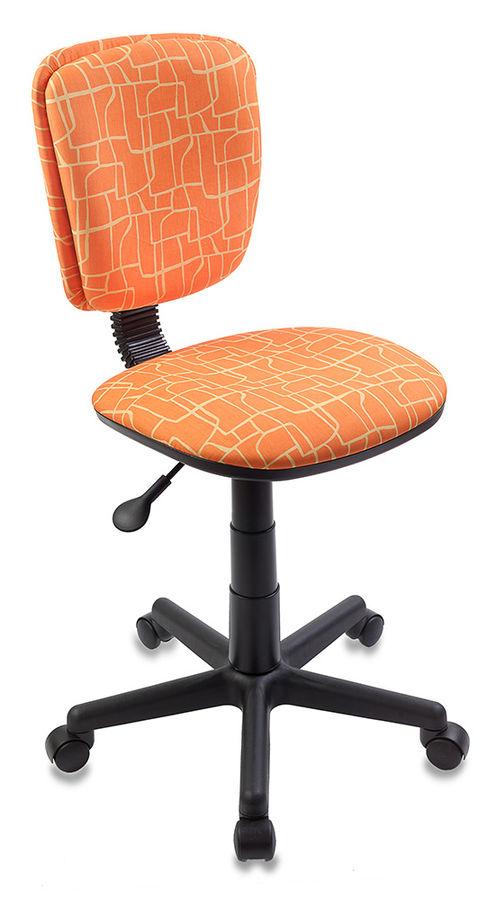 Кресло детское БЮРОКРАТ CH-204NX, на колесиках, ткань, оранжевый [ch-204nx/giraffe]