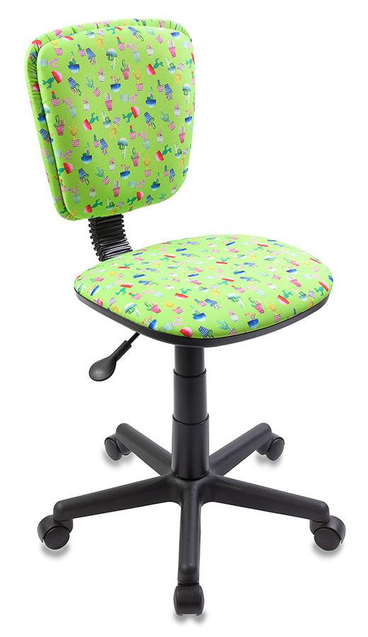Кресло детское БЮРОКРАТ CH-204NX, на колесиках, ткань, зеленый [ch-204nx/cactus-gn]