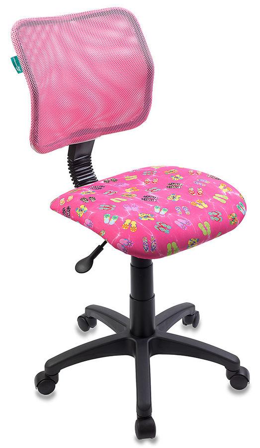 Кресло детское БЮРОКРАТ CH-295, на колесиках, ткань, розовый [ch-295/pk/flipflop_p]