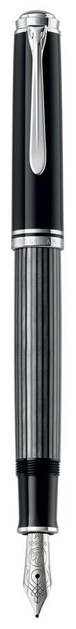 Ручка перьевая Pelikan Souveraen Stresemann M 405 (803823) антрацитовый M золото 14K покрытое родием