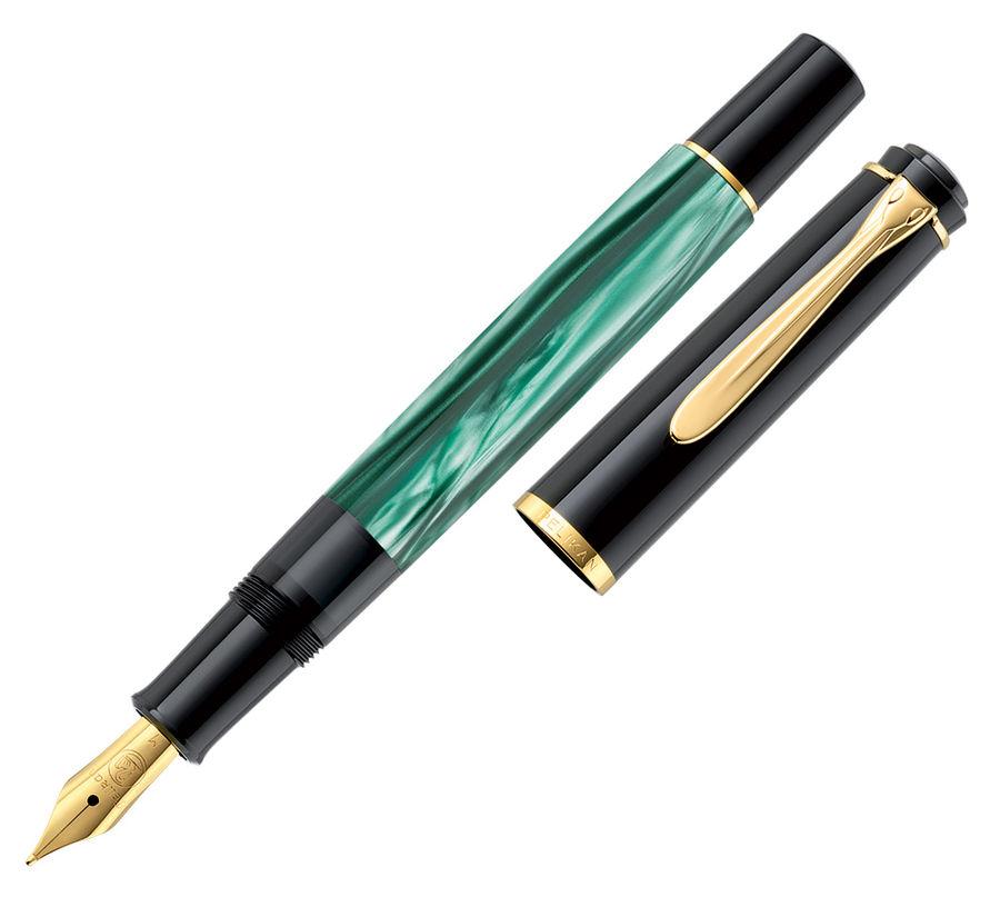 Ручка перьевая Pelikan Elegance Classic M200 (994103) Green Marbled M сталь нержавеющая/позолота под
