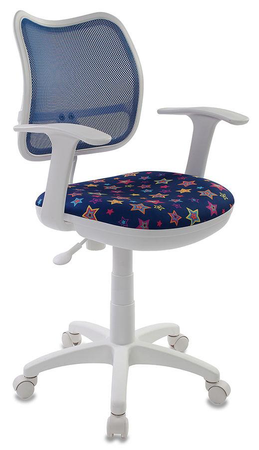 Кресло детское БЮРОКРАТ CH-W797, на колесиках, синий [ch-w797/bl/star-bl]