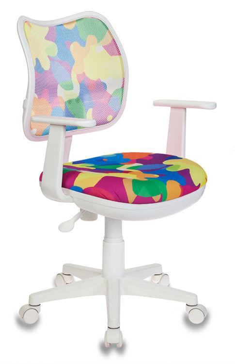 Кресло детское БЮРОКРАТ CH-W797, на колесиках, ткань, мультиколор [ch-w797/abstract]