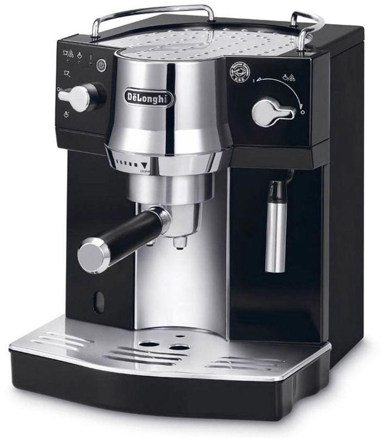Кофеварка DELONGHI EC820.B,  эспрессо,  серебристый  / черный [0132104124]