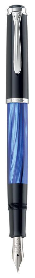 Ручка перьевая Pelikan Elegance Classic M205 (801966) Blue-Marbled F сталь нержавеющая подар.кор.
