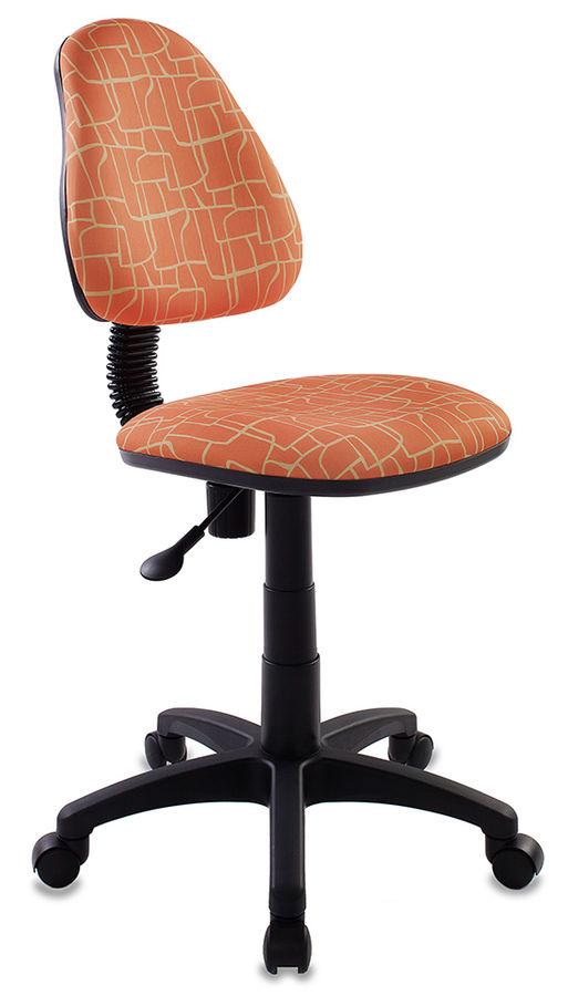 Кресло детское БЮРОКРАТ KD-4, на колесиках, ткань, оранжевый [kd-4/giraffe]
