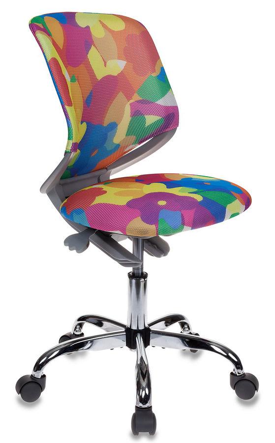 Кресло детское БЮРОКРАТ KD-7, на колесиках, сетка, мультиколор [kd-7/abstract]