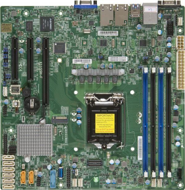 Серверная материнская плата SUPERMICRO MBD-X11SSH-F-B,  bulk