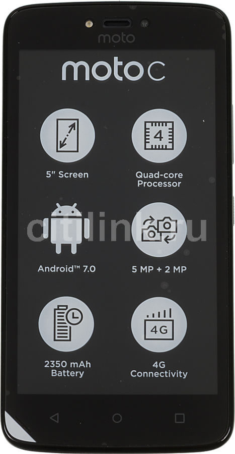 Смартфон MOTOROLA C 4G 16Gb,  XT1754,  черный