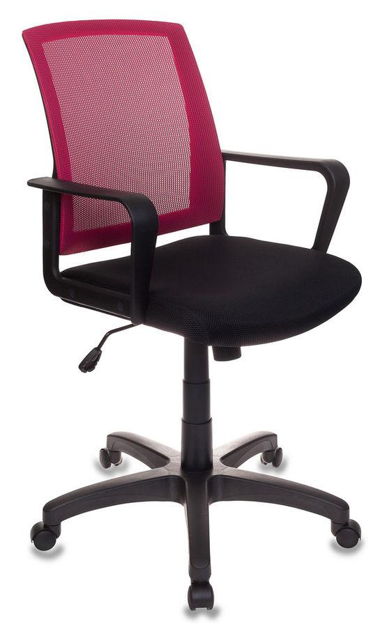 Кресло БЮРОКРАТ CH-498, на колесиках, ткань, черный/бордовый [ch-498/ch/tw-11]