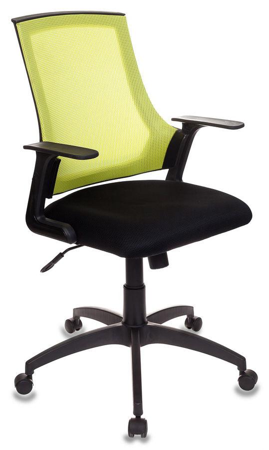 Кресло БЮРОКРАТ CH-500, на колесиках, ткань, черный/салатовый [ch-500/sd/tw-11]