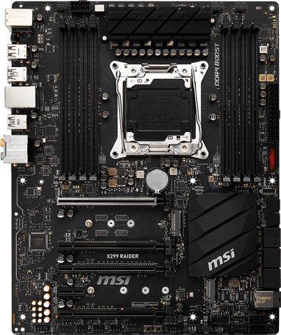 Материнская плата MSI X299 RAIDER, LGA 2066, Intel X299, ATX, Ret